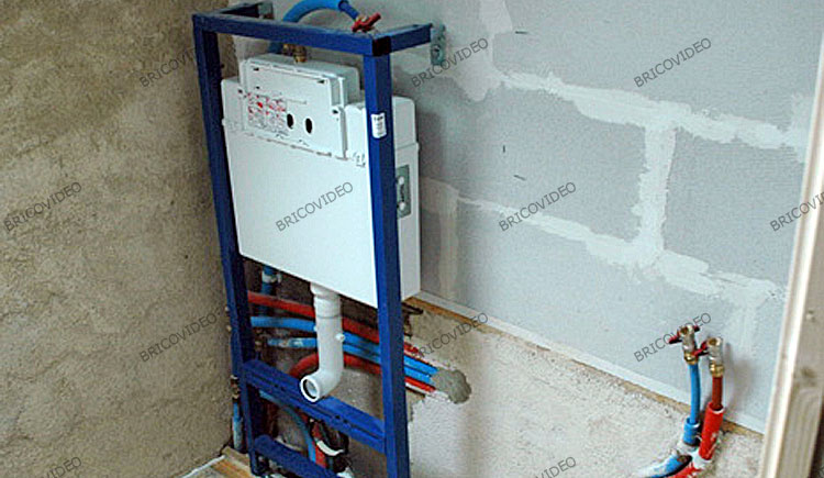 installer wc suspendu