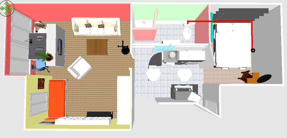 Plomberie conseils bricolage d placement toilettes dans for Plan appartement 1 chambre