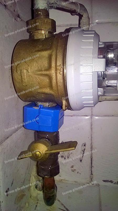 Arrivée d'eau démontage ou resserrage compteur