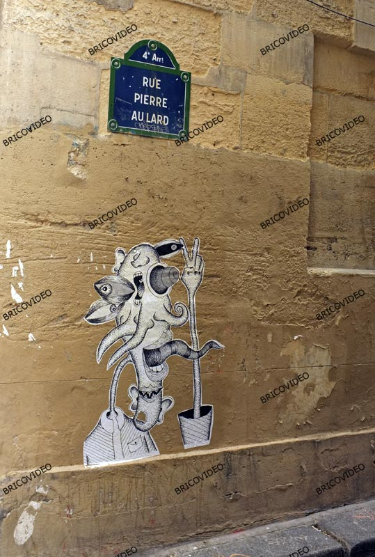 Art de la rue Paris collages