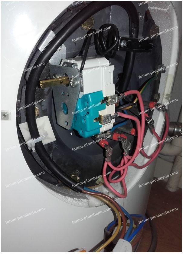 câblage thermostat chauffe eau Fagor