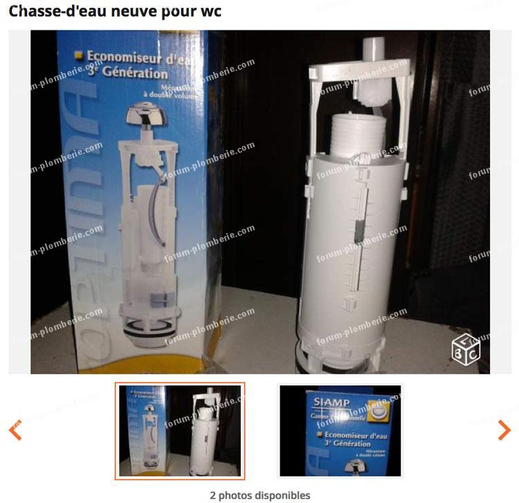 chasse-d'eau neuve pour WC