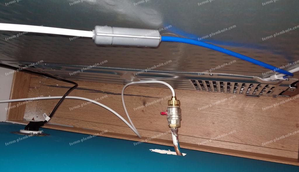 cintrage tuyau cuivre installé