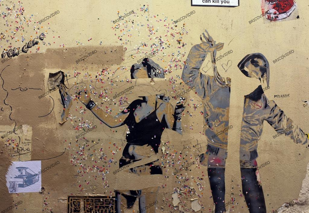 collages art de la rue Paris