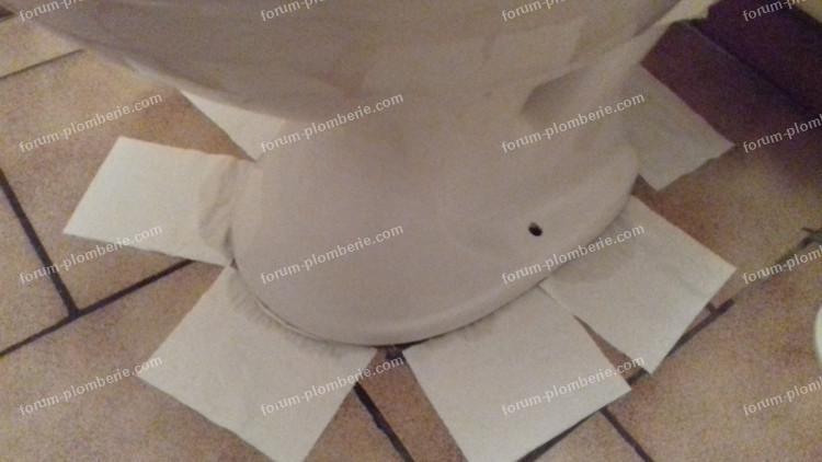 problème cuvette WC poreux
