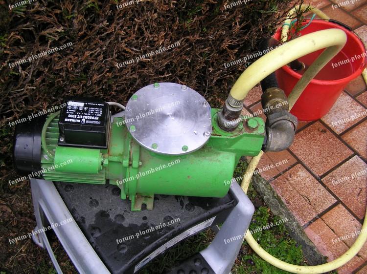 dépannage pompe à eau suite