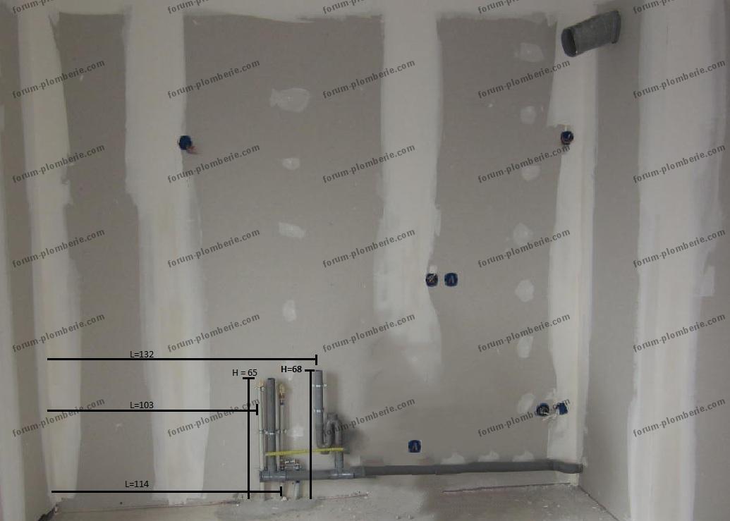 forum plomberie d placement d 39 un vier avec prolongement des tuyaux. Black Bedroom Furniture Sets. Home Design Ideas