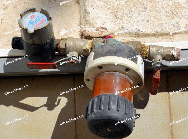 filtre anti boue plomberie