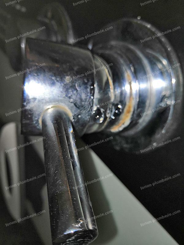 fuite au niveau du mitigeur de douche