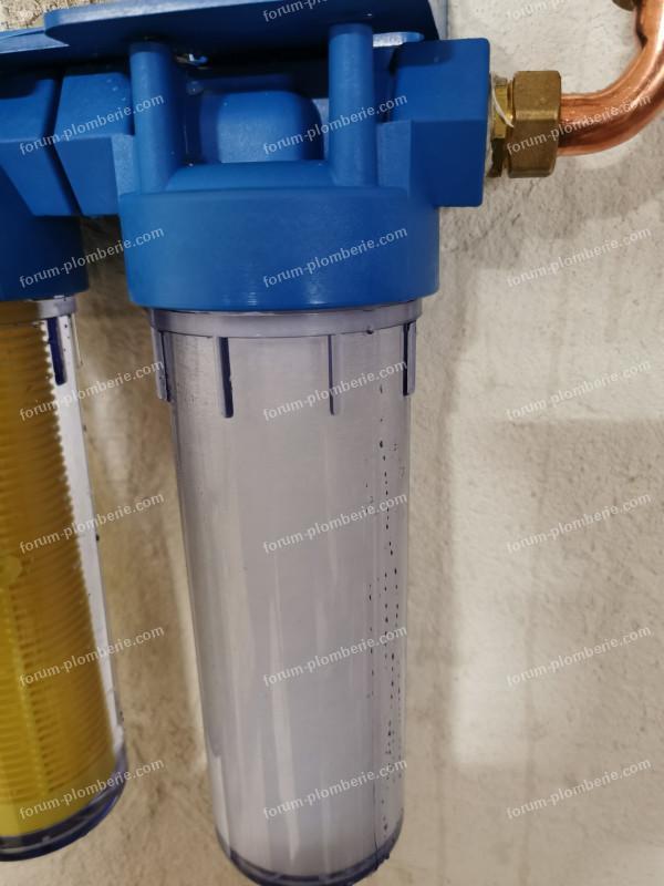 fuite filtre anti calcaire
