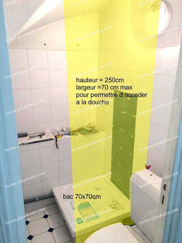 questions r ponses plomberie cr er une paroi de douche dans un petit espace. Black Bedroom Furniture Sets. Home Design Ideas