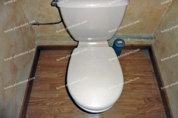 problème installation évacuation WC