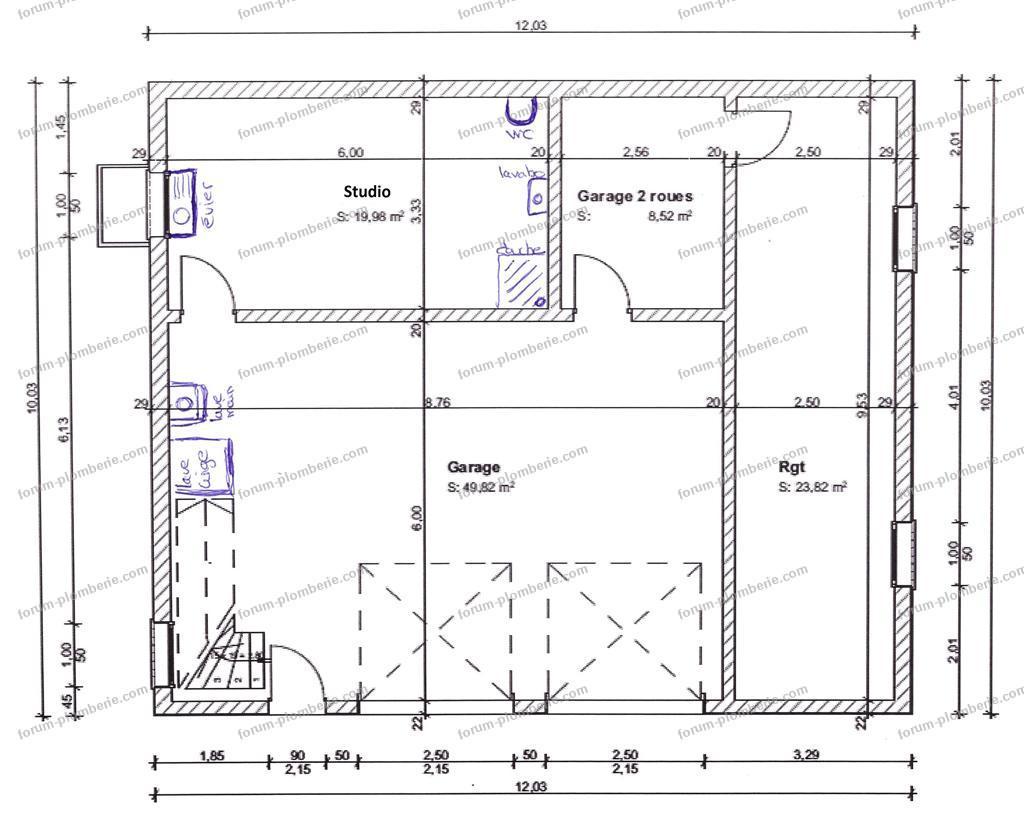 plan évacuation des eaux usées maison