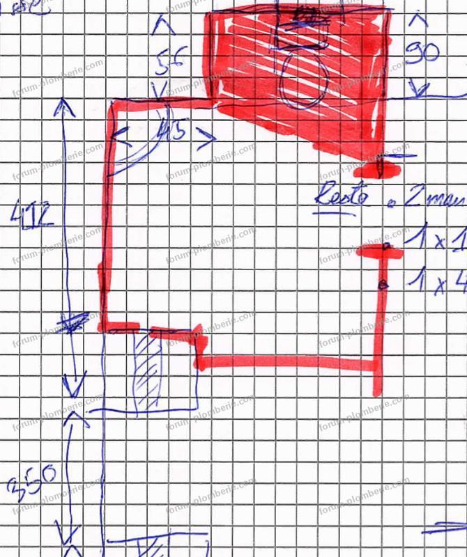 plan raccordement WC