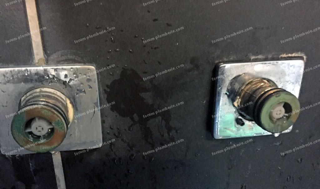 problème démontage robinet thermostatique de douche