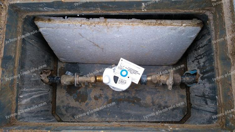 raccordement compteur d'eau partie privee