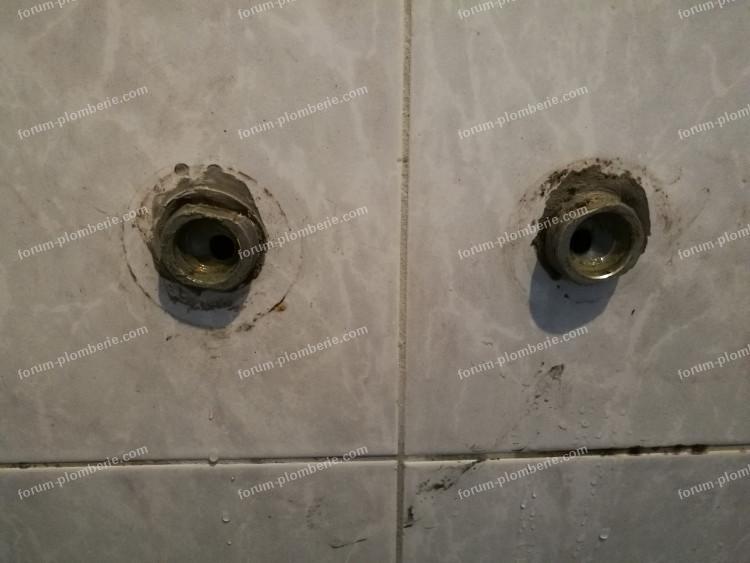 raccords mitigeur de douche pas standards