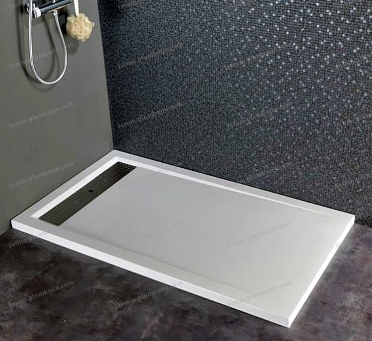 bricovid o plomberie d bit minimal vacuation bonde receveur de douche plat. Black Bedroom Furniture Sets. Home Design Ideas