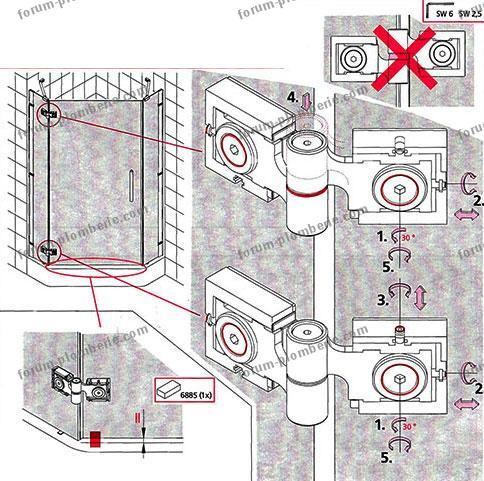 r glage porte de douche rothalux toca xp. Black Bedroom Furniture Sets. Home Design Ideas