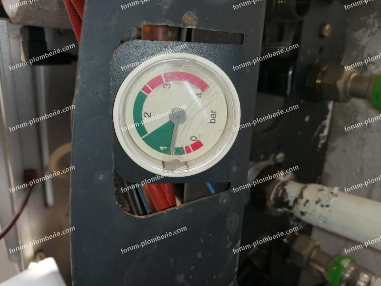 réglage pression chaudière Baxi
