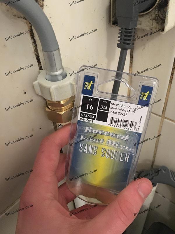 réparation tuyau arrivée d'eau lave-linge