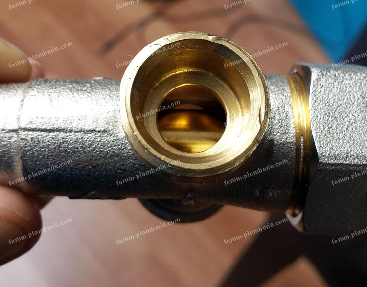 fuite robinet de dérivation
