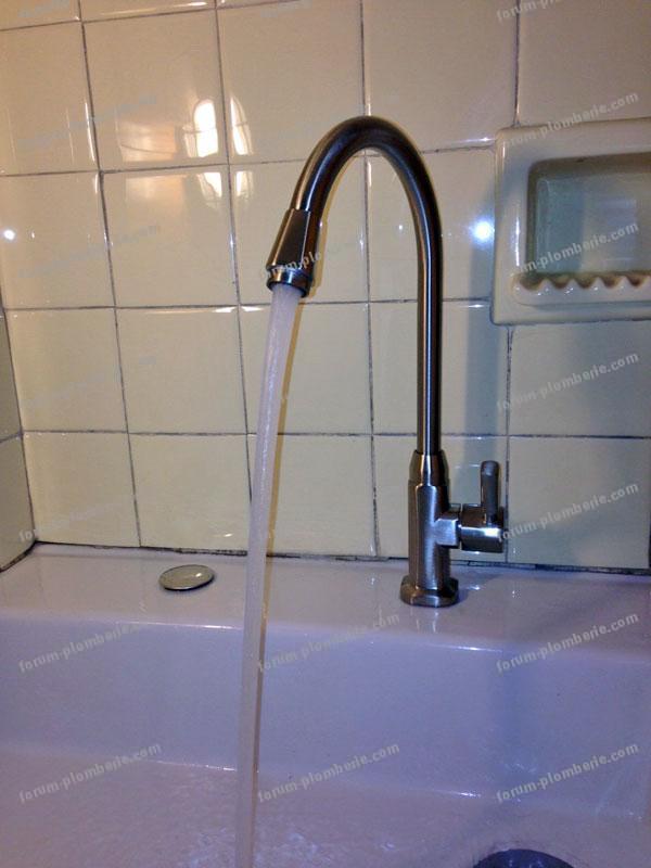 Remplacement robinet ef installer