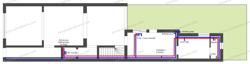 Renovation plomberie maison plan plomberie n rnovation for Schema plomberie maison neuve