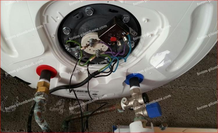 thermostat chauffe-eau en sécurité